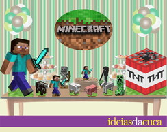 Kit Festa Decora��o Completa Minecraft