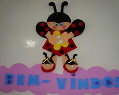 Enfeite de Porta: Joaninha-Bem Vindos