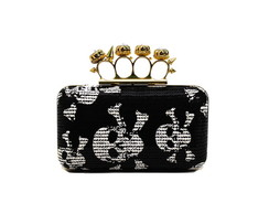 Bolsa Clutch Black and White Paet�s Spik