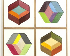Quadros Decorativos Abstrato Geom�trico