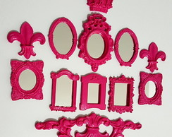 Kit 8 Mini Espelhos Decorativos Pink