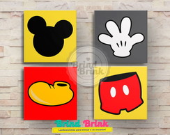 Quadros Decorativos Mickey 30x30
