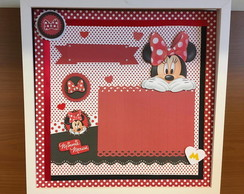 Quadro Scrapbook - Minnie