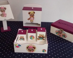 kit higiene mdf bebe decorado 7 pe�as