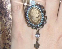 Anel Blue Vintage Cameo