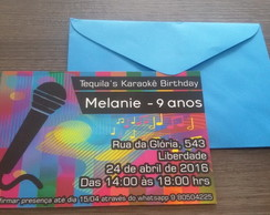 Convite Balada Karaoke comprar usado  Brasil