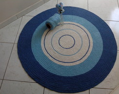 Tapete croch� baby blue 1,20m