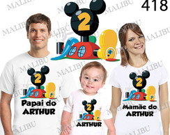 kit Camiseta anivers�rio casa do Mickey