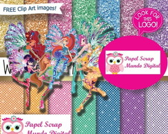 PAPEL DIGITAL WINKS GLITTER 26-14