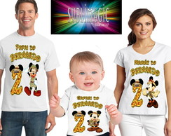 Kit 3 Camisetas Mickey Safari A2
