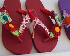"""Sand�lias havaianas """"la�os de fita"""""""