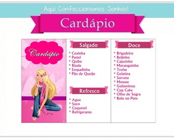 Card�pio Barbie