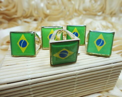 Kit 5 an�is Brasil