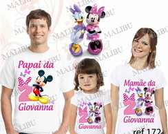Camiseta Anivers�rio Casa La�os Minnie