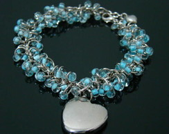 Pulseira de Cristais Blue Love