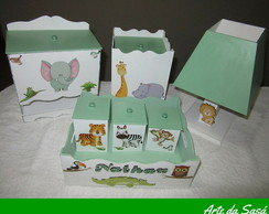 Kit Higiene para Beb� Safari - 7 pe�as