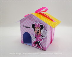 Casinha de Papel Minnie Rosa
