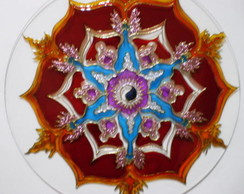 MANDALA VITRAL - PODER DO CHACRA B�SICO