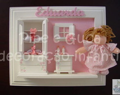 (MA 0046) Quadro matern quarto de boneca
