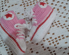 All star de croche Rosa