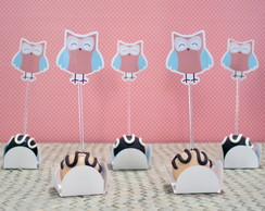 Toppers para doces - baby safari A4