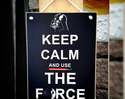 Placa Use The Force 15x20