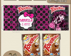 R�tulo para toddynho monster high