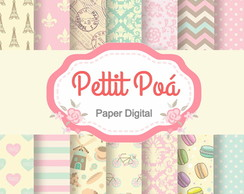 Papel digital paris vintage
