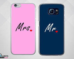 Kit Capinha de Celular Mr. e Mrs.