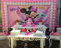 Loca��o decora��o minnie rosa