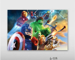 Poster 30x45cm Lego Her�is Iron Man Hulk
