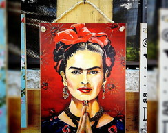 Placa Frida Kahlo 19x26