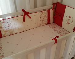 KIT DE BER�O OL�VIA FLORAL - 5 PE�AS