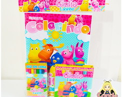 Kit Colorir com Massinha Backyardigans