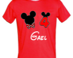 Camiseta vermelha do Mickey