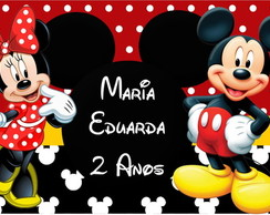 R�TULO SQUEEZE MINNIE E MICKEY