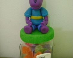 Lembran�a pote decorado Backyardigans