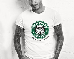 Camiseta Camisa Star Wars Coffe