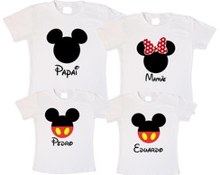 Kit 4 camisetas mickey disney aniversari
