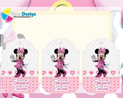 Tag Para Lembran�as Minnie Rosa