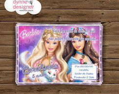 Convite Digital - Barbie Princesas
