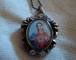 Colar Sagrado Cora��o de Maria