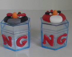 Lembrancinha Angry Birds de biscuit