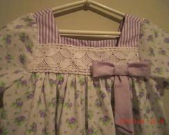Lindo vestidinho em algod�o tam 2/3 anos