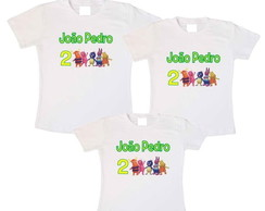kit 3 camisetas Backyardigans aniver