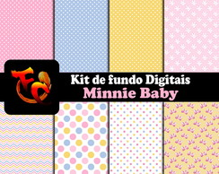 Kit Fundos digitais - Minnie Baby
