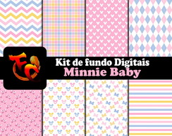 Kit Fundos digitais - Minnie Baby 2