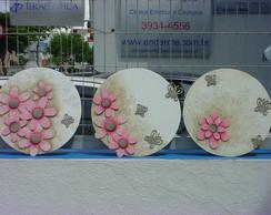 Quadros Flores e Borboletas