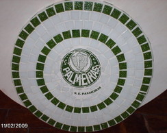Mosaico com time de futebol