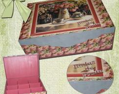 caixa de ch� floral